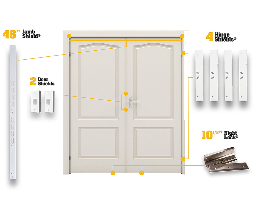 For Double Doors - Double Door Kit