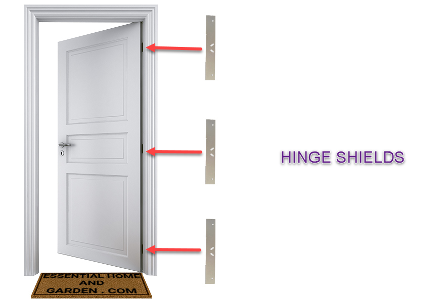 DOOR HINGE SHIELDS
