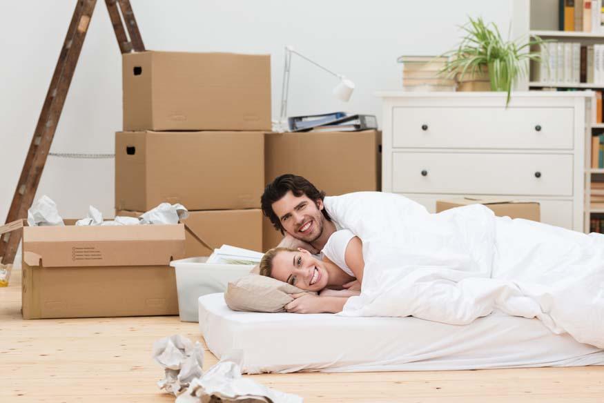 couple on a mattress