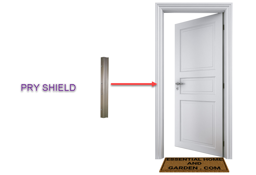 pry shield for door security