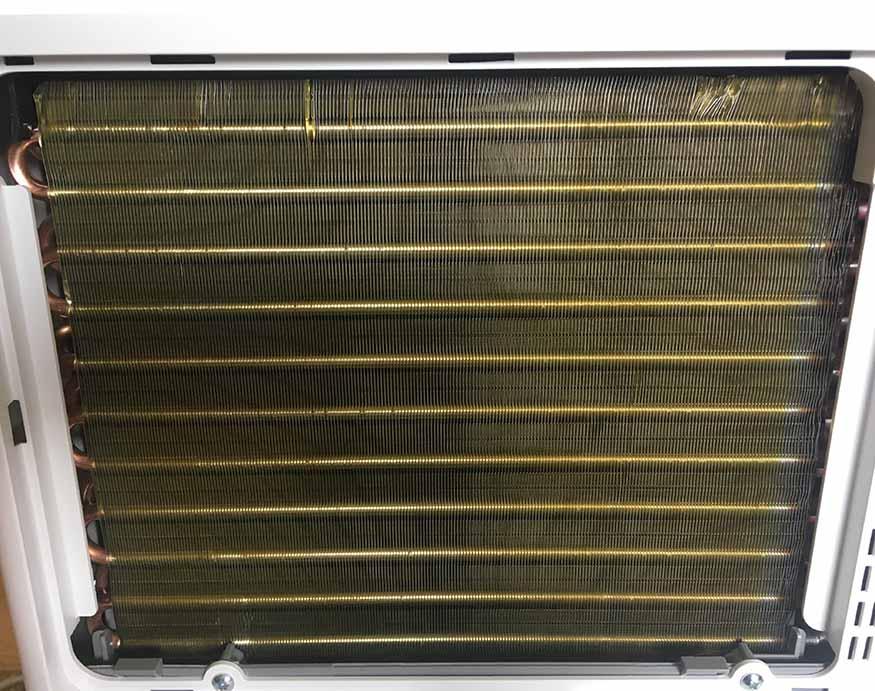 built-in coils of homelabs 50-pint dehumidifier
