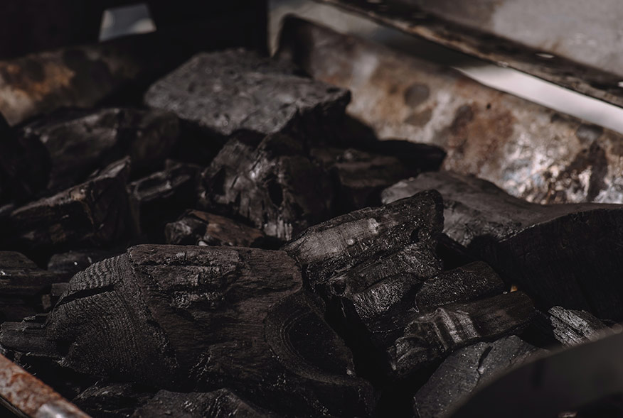 coals to be reused