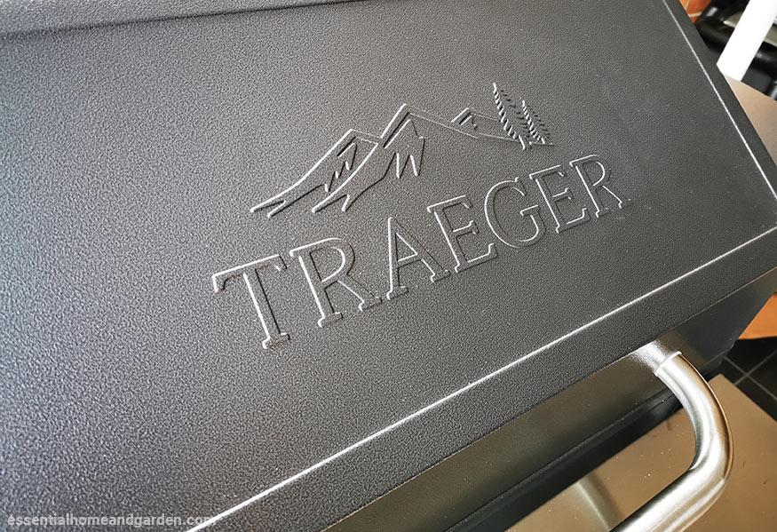 traeger logo on pellet grill