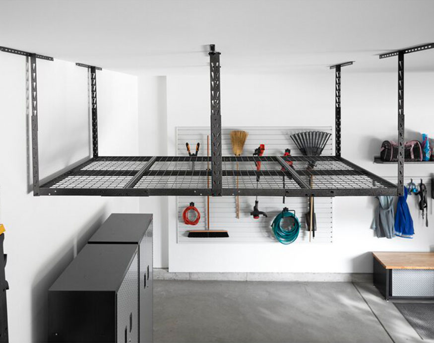 overhead garage ceiling-mounted rack from Gladiator