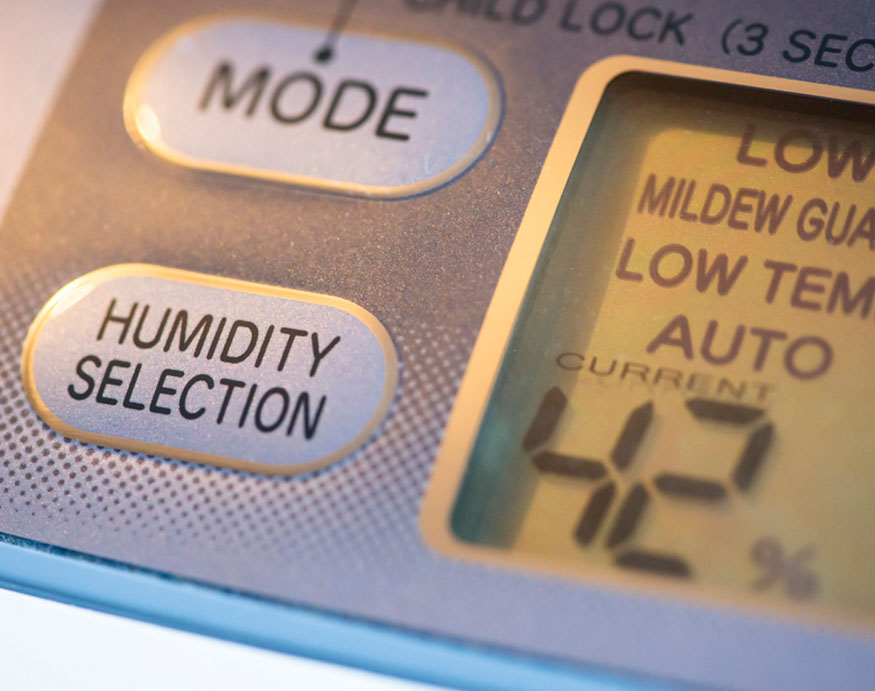 close up picture of a dehumidifier