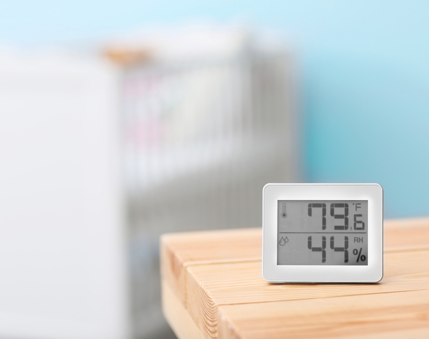 picture of a Digital temperature and humidity control]