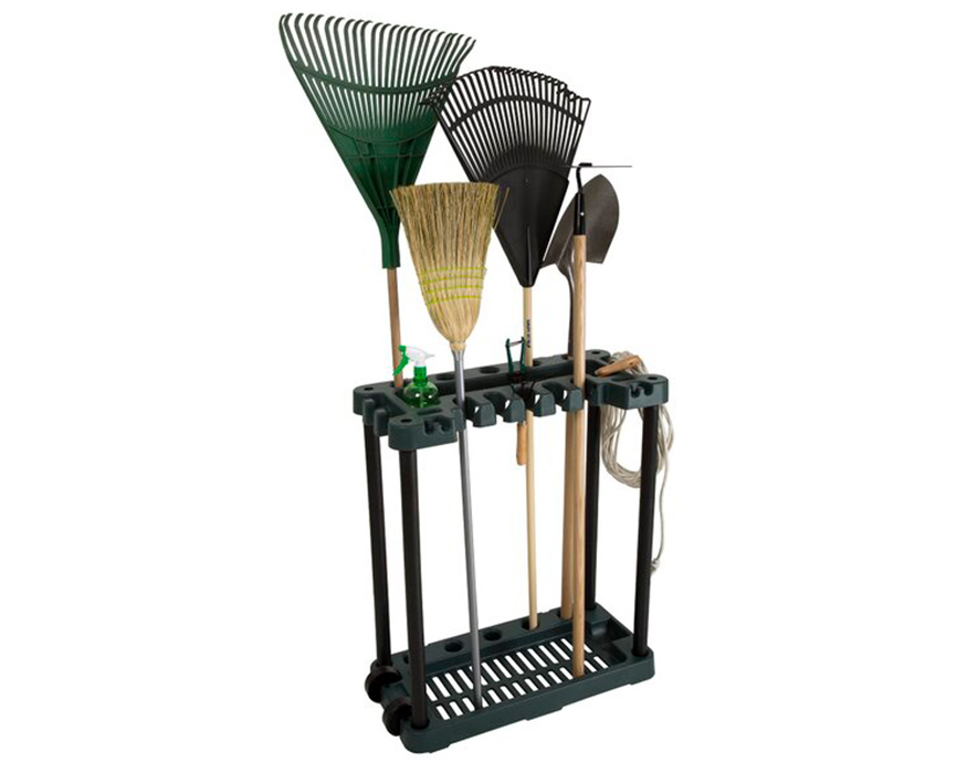 Stalwart Rolling Garden Tool Rack
