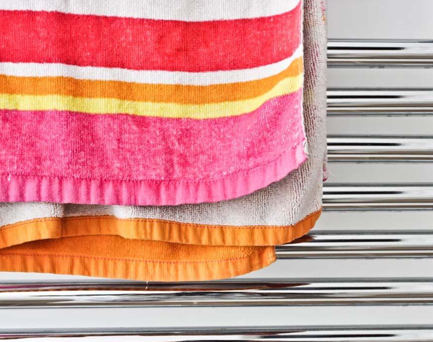 towel on tower warmer rail