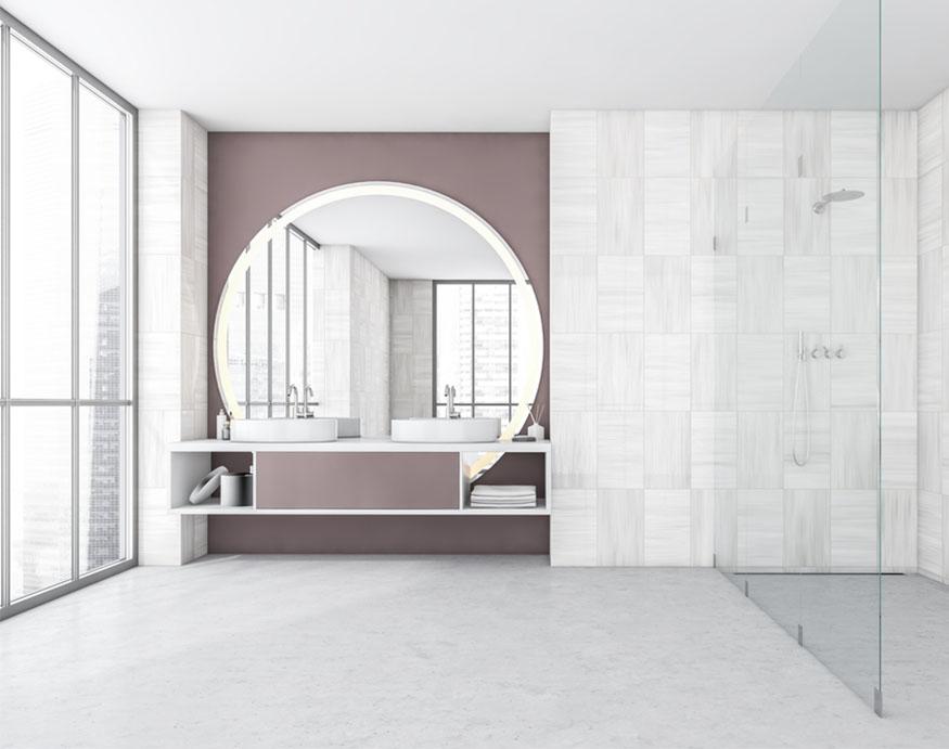 bathroom with open or doorless shower