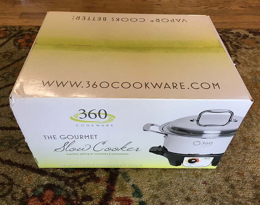 packaging of 360 Cookware Slow Cooker