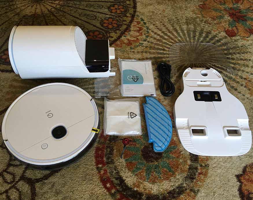 full setup of the Yeedi Vac Station Robotic Vacuum