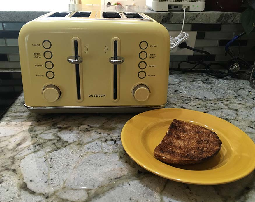 Buydeem 4-Slice Toaster's performance review