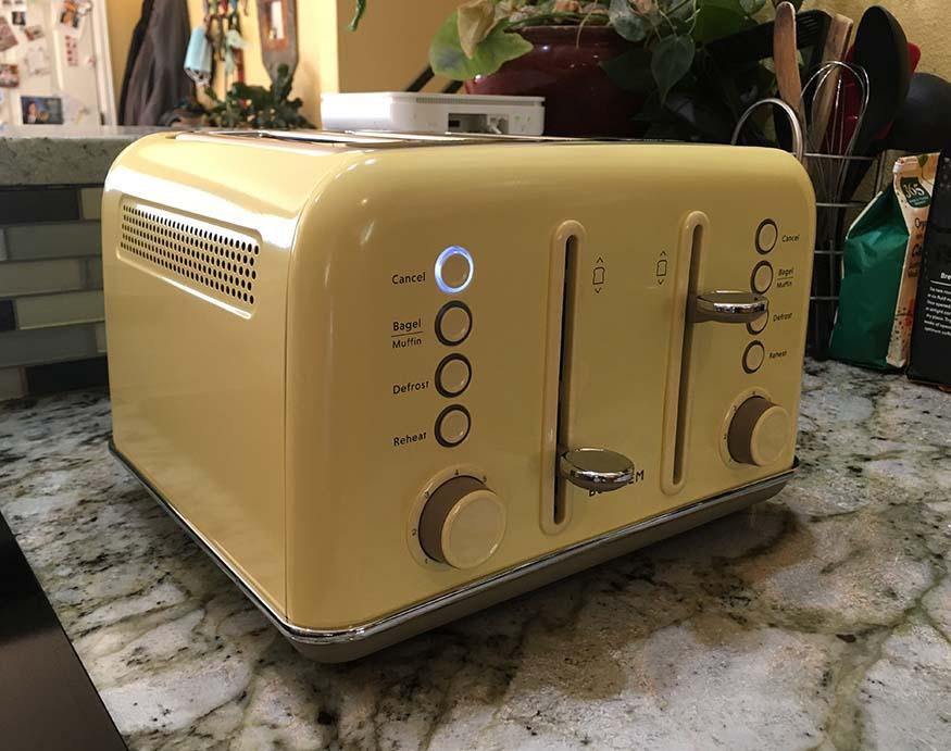 Buydeem 4-Slice Toaster in yellow