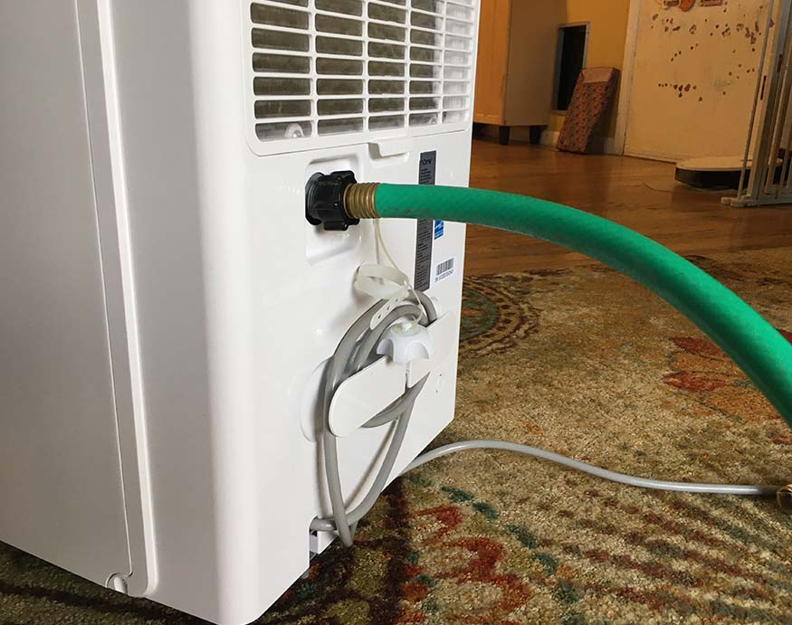 proper way of connecting hose to a dehumidifier