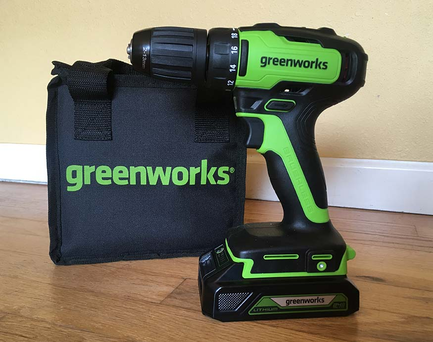 Greenworks DD24L00 24V Drill/Driver with carrying case