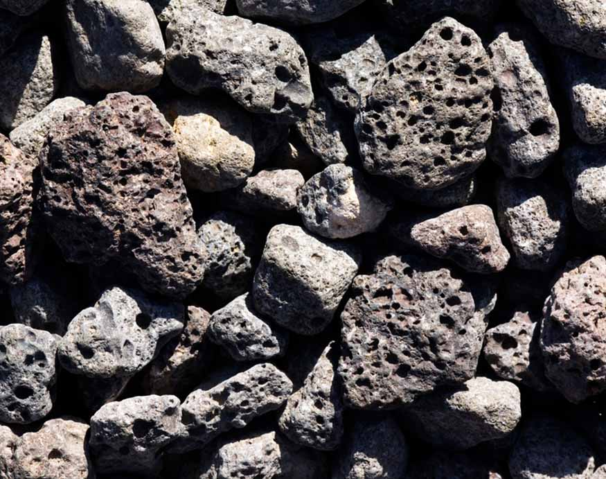close-up picture of lava rocks