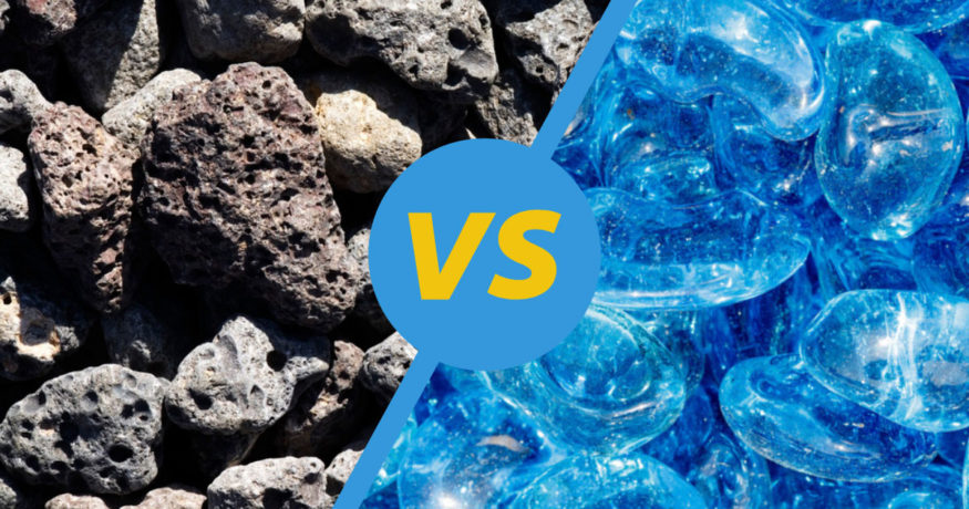 lava rock vs fire glass
