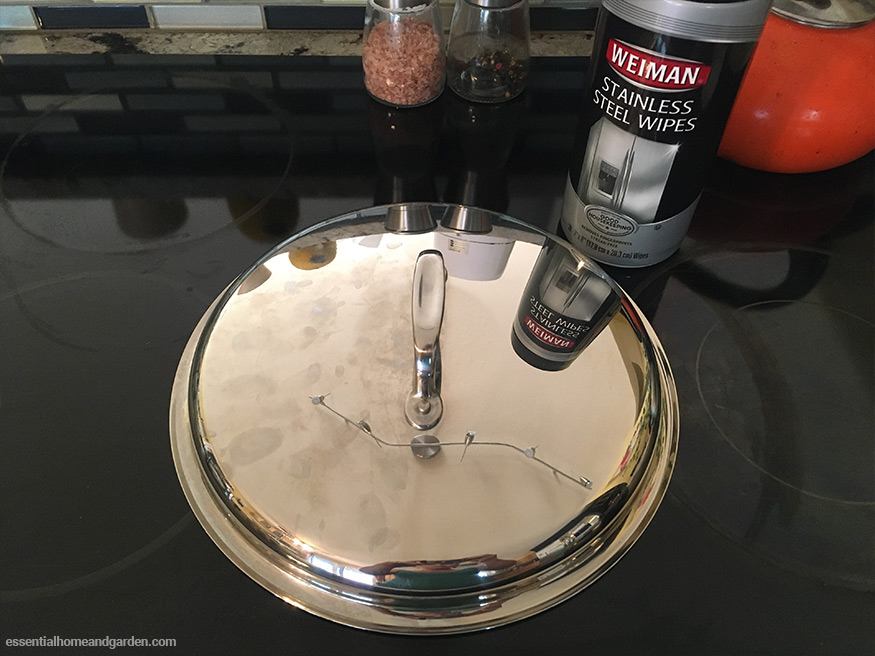 stainless steel lid half polished